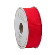 Caspari Caspari Ribbon - Narrow Grosgrain Red - 8 yards