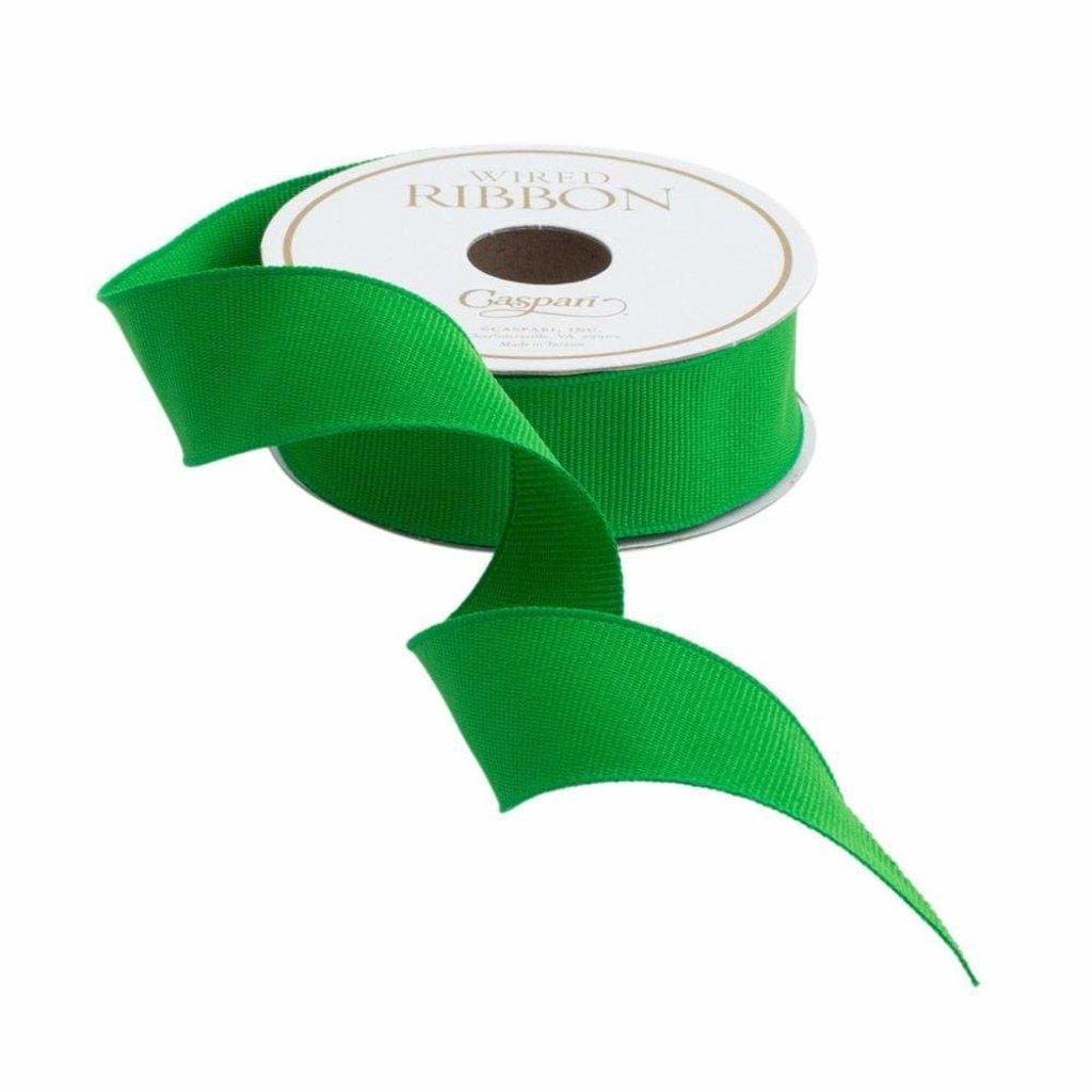 Caspari Caspari Ribbon - Narrow Grosgrain Emerald Green - 8 yards