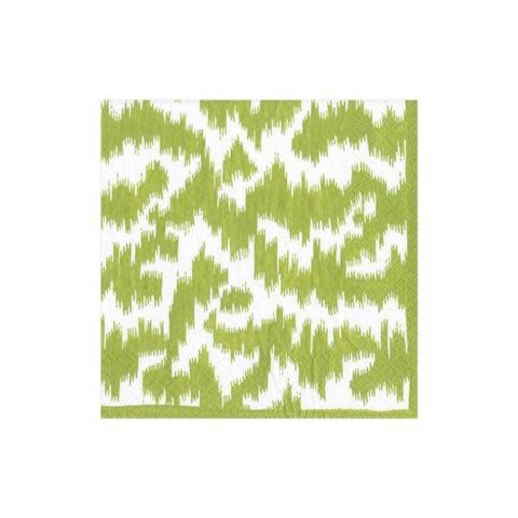 Caspari CASPARI MODERN MOIRE GREEN - NAPKIN COCKTAIL