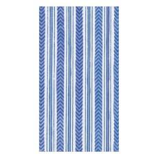 Caspari CASPARI CARMEN STRIPE BLUE - GUEST TOWEL
