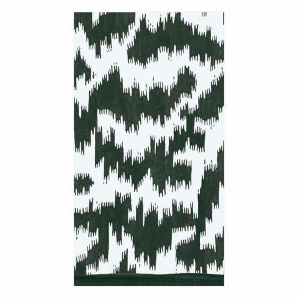 Caspari CASPARI MODERN MOIRE BLACK - GUEST TOWEL