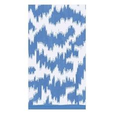 Caspari CASPARI MODERN MOIRE BLUE - GUEST TOWEL
