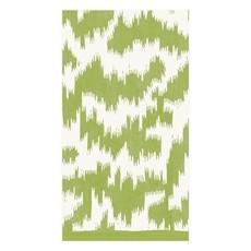 Caspari CASPARI MODERN MOIRE GREEN - GUEST TOWEL