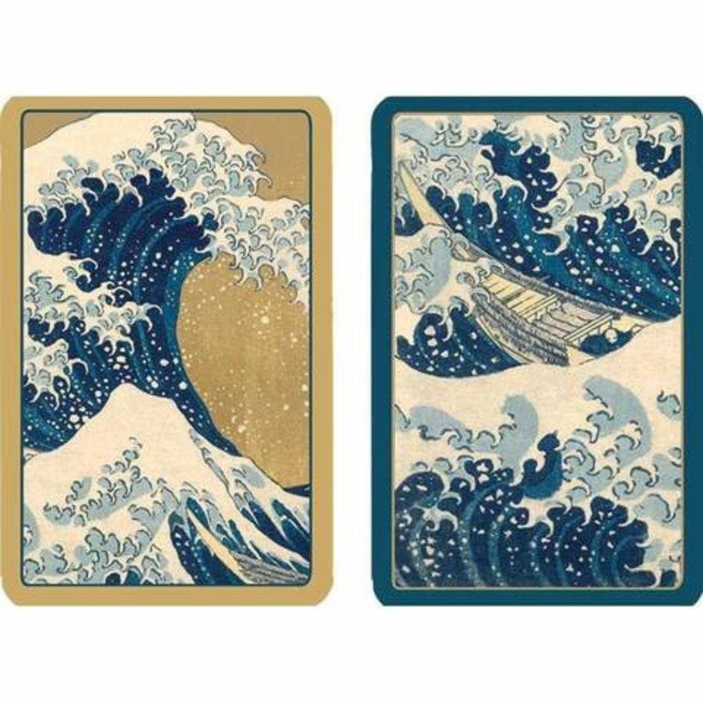 Caspari CASPARI THE GREAT WAVE PLAYING CARDS JUMBO