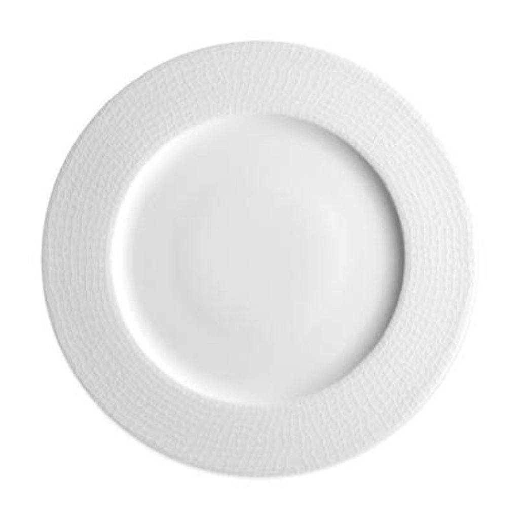 """Caskata Caskata Catch 10.75"""" Rimmed Dinner - White"""