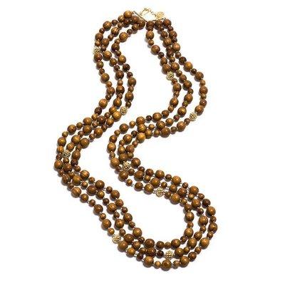 """Capucine De Wulf Capucine De Wolf Beads Necklace, Teak 36"""" Earth Goddess"""