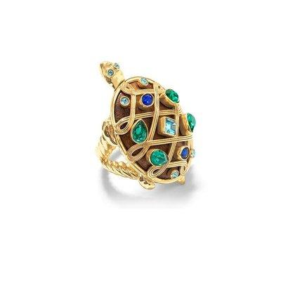 Capucine De Wulf Capucine De Wolf Turtle Jeweled Ring, Size 7, Earth Goddess