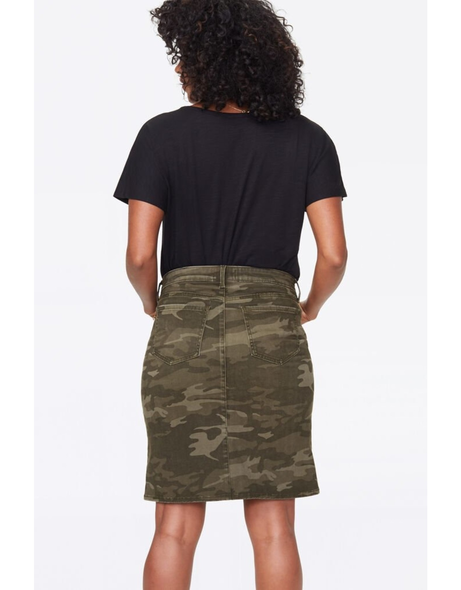 NYDJ Camo Denim Skirt