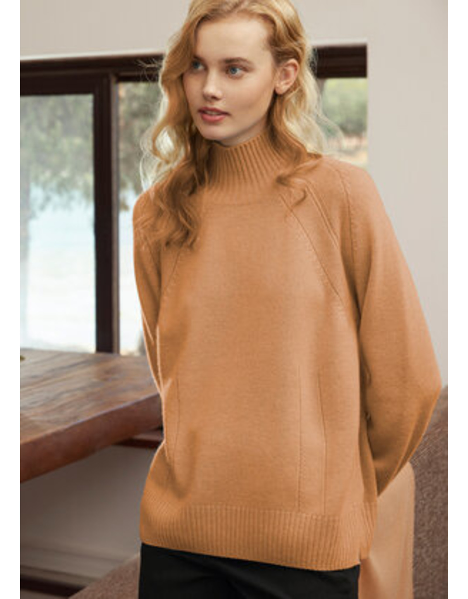 Cashmere Clouds High Neck Sweater