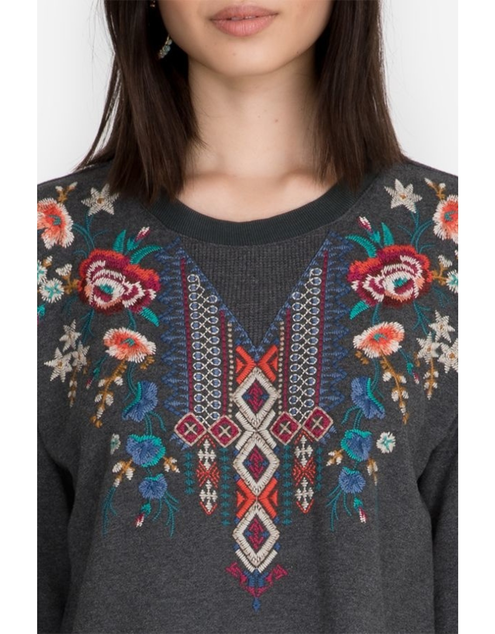 Johnny Was Isadora Thermal Mix French Terry Pullover