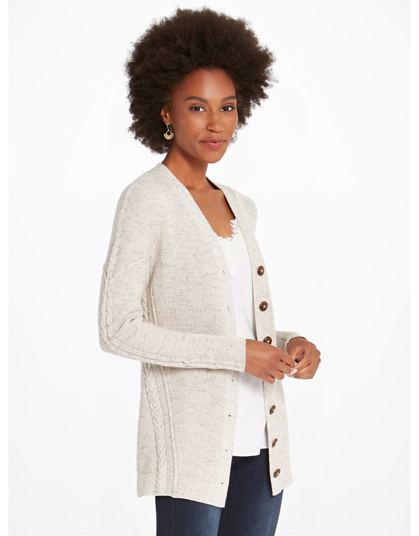 Nic+Zoe Buttoned Up Cardigan
