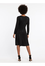 Nic+Zoe Dusk Wrap Dress Black