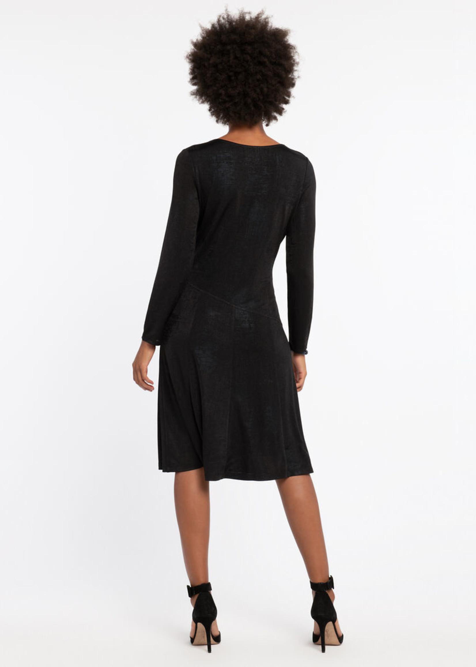 Nic+Zoe Dusk Wrap Dress Black