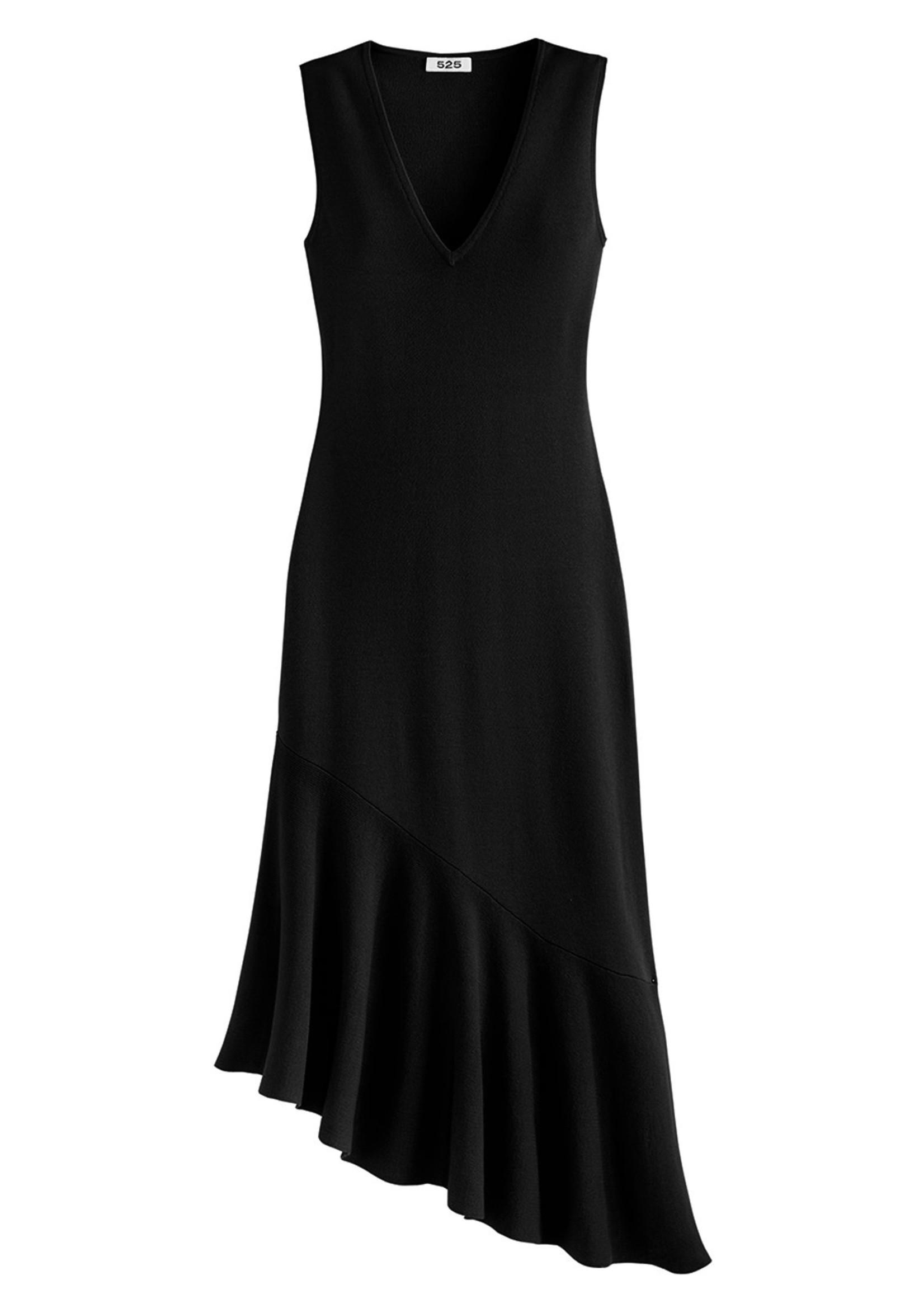 525 America Asymetrical Ruffle Dress