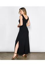 A-line Maxi Tank Dress w/ Side Slits