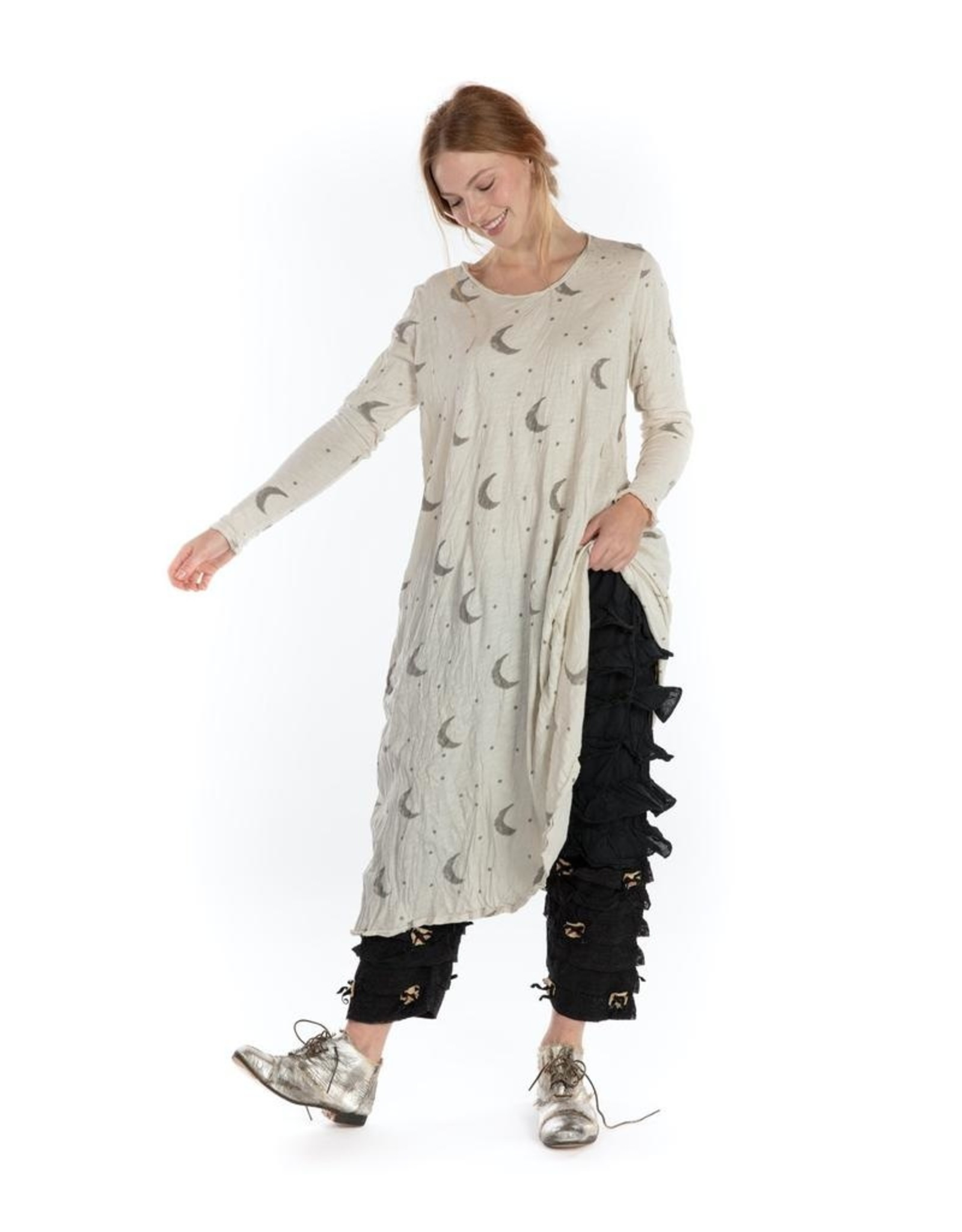 Magnolia Pearl Crescent Moon and Stars Dylan T Dress - Moonlight