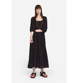 Ottod'Ame Oversized Cotton Dress w/ Tucks