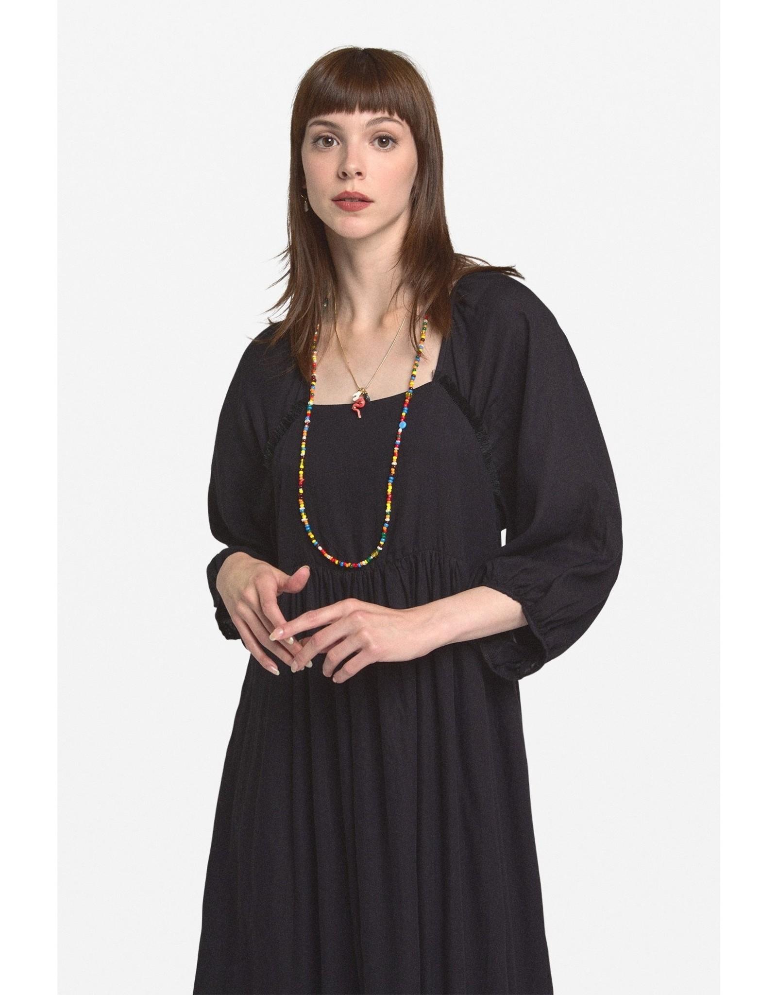 Ottod'Ame Oversized Cotton Dress w/ Tucks - DA4252