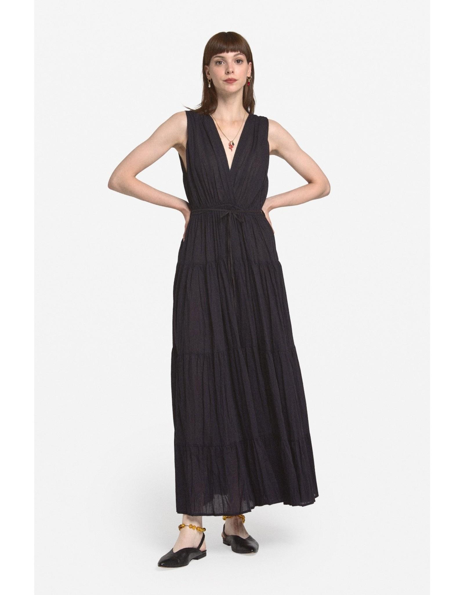 Ottod'Ame Cotton Long Dress w/ Deep V Neckline - DA4240