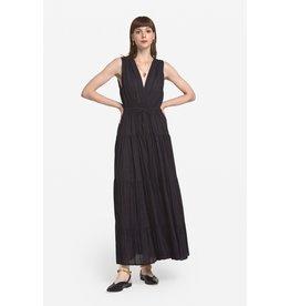 Ottod'Ame Cotton Long Dress w/ Deep V Neckline
