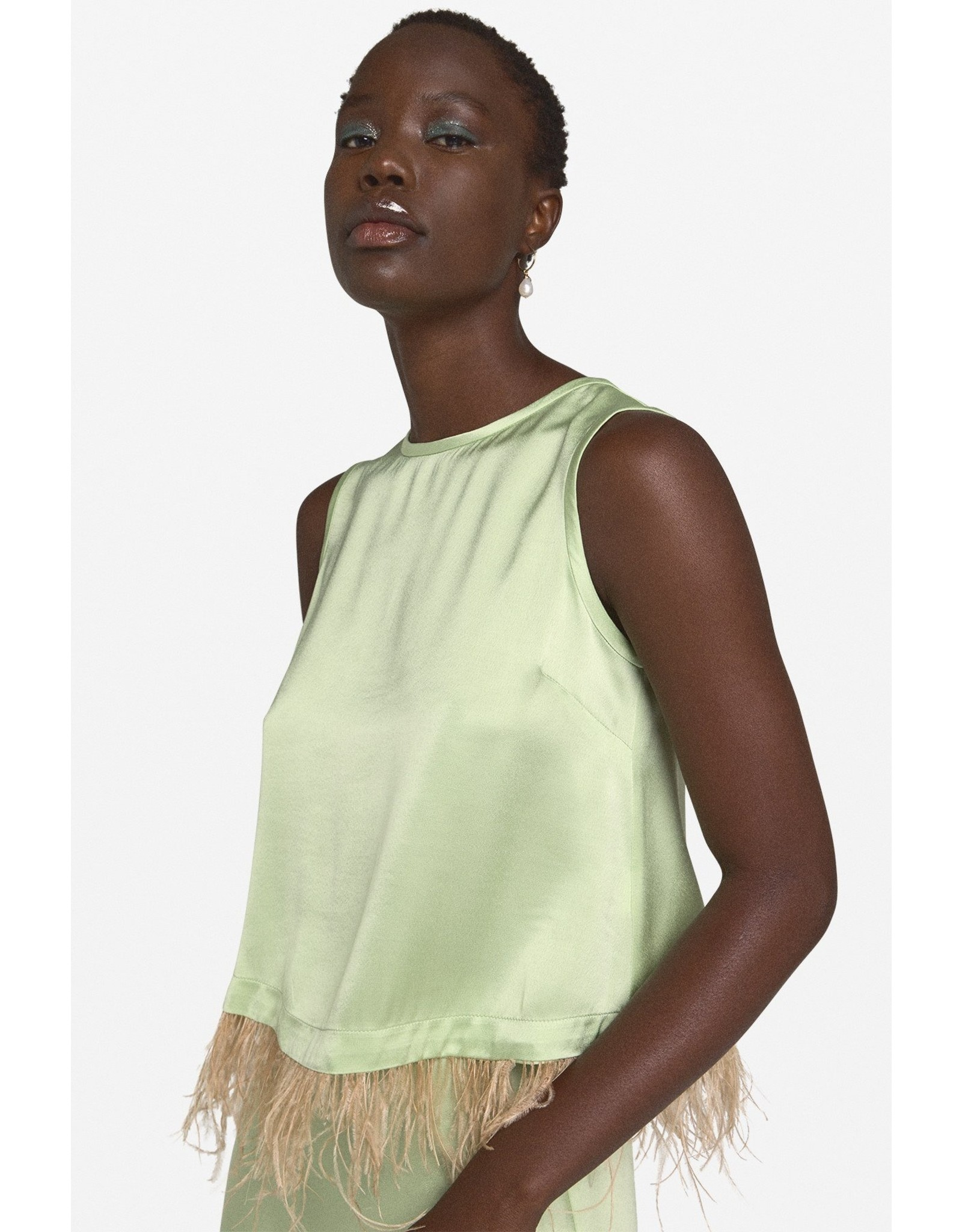 Ottod'Ame Viscose Feather Top - DT8884