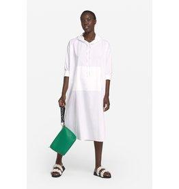 Ottod'Ame Cotton Tunic Dress w/ Hood