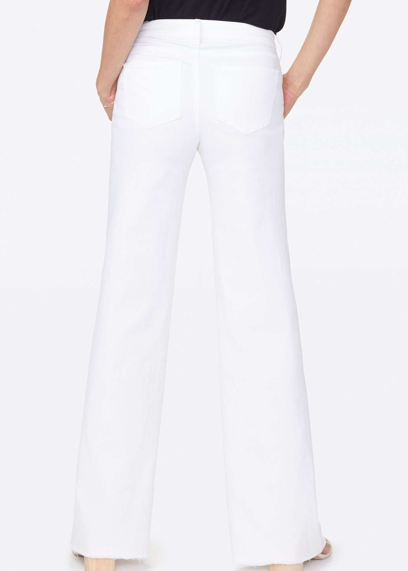 NYDJ Teresa Wide Leg Fray Hem - Optic White