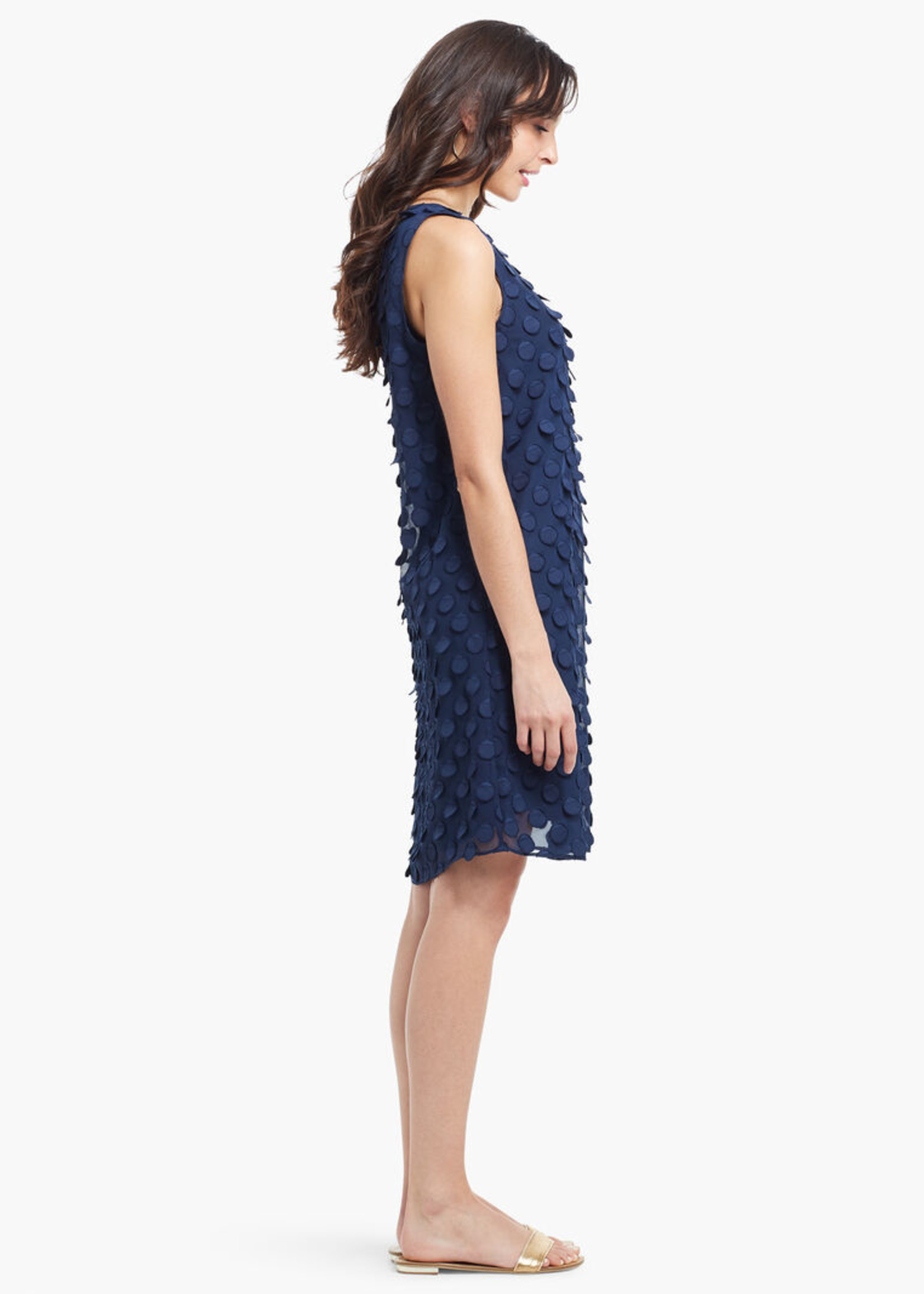 Nic+Zoe Chiffon Dot Dress