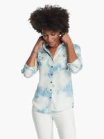 Nic+Zoe Tie Dye Denim Shirt