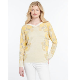 Nic+Zoe Lemons Sweater Reversible