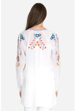 Johnny Was Feathers Blouse - White