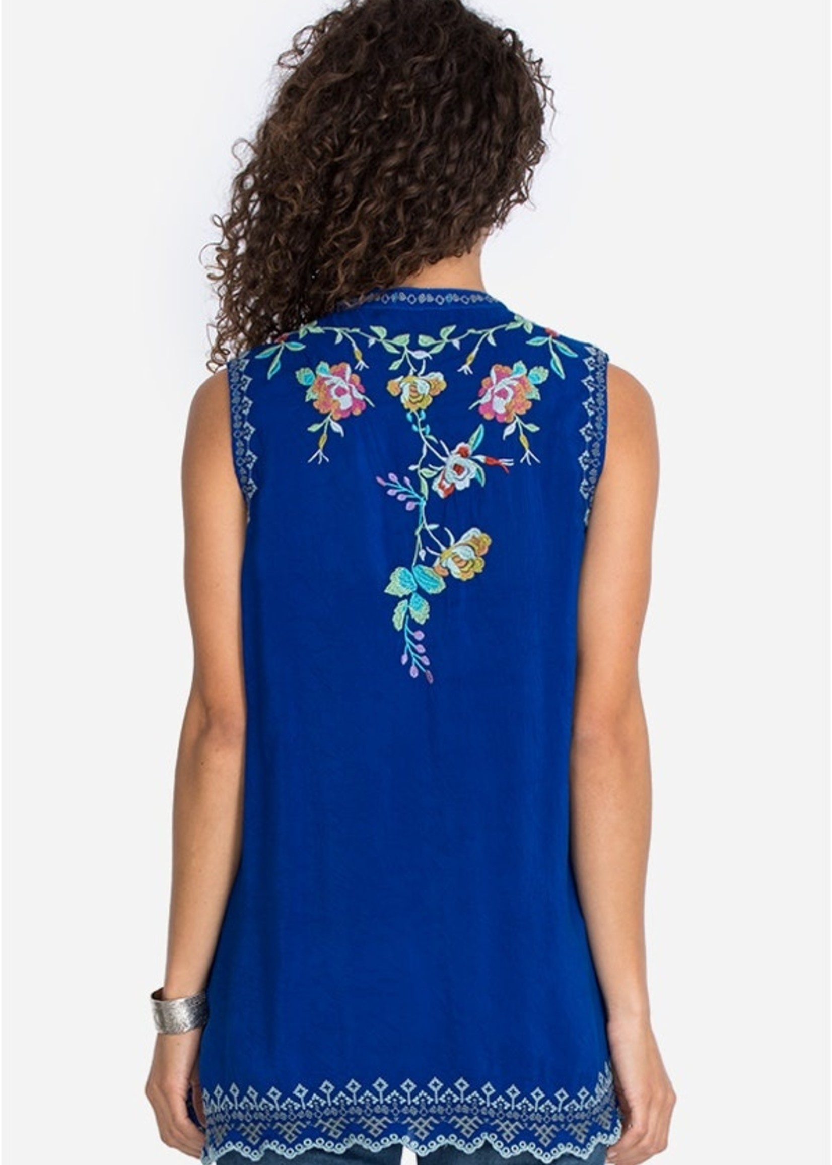 Johnny Was Tallie Tunic - Blueberry