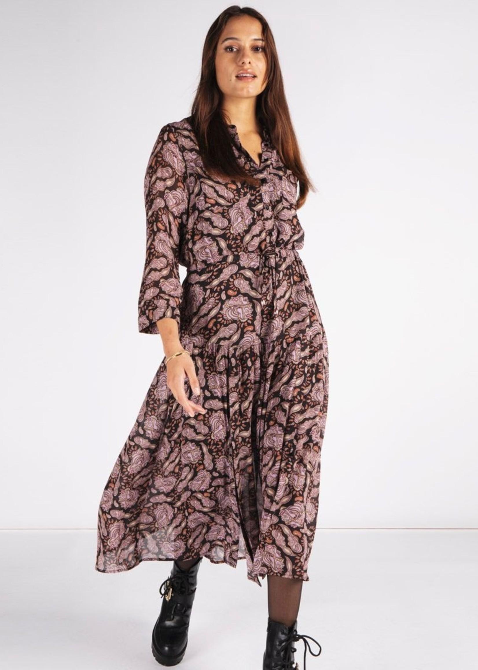 EsQualo Paisley Midi Dress