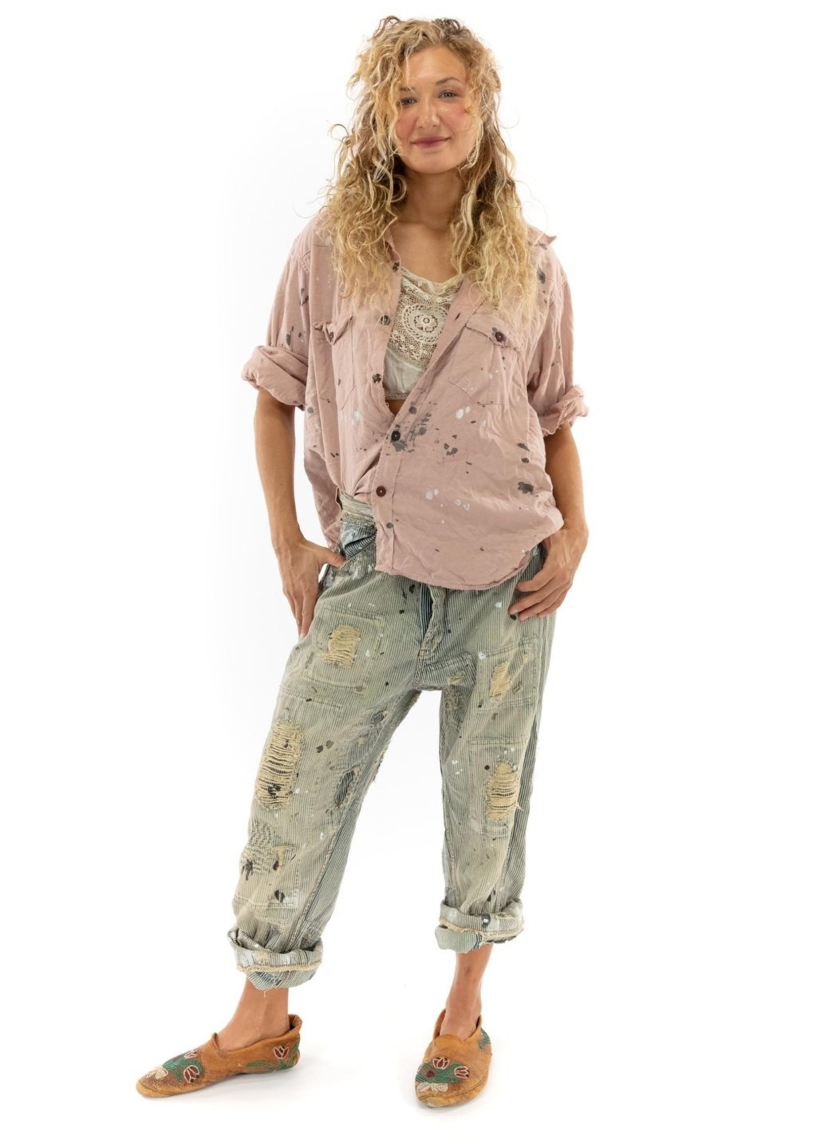 Magnolia Pearl Kelly Western Shirt Love Embro - Bisou