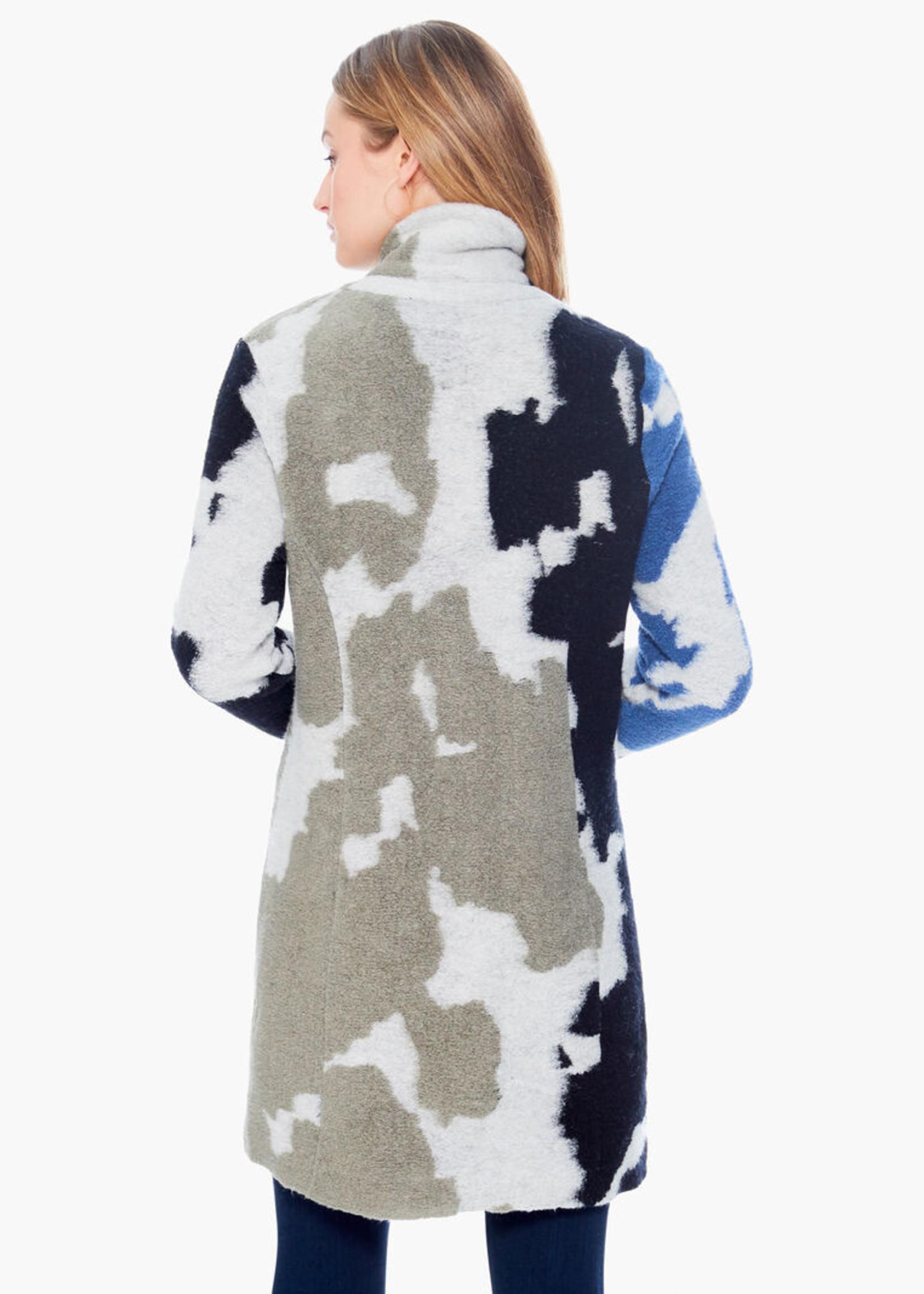 Nic+Zoe Animal Instinct Coat - Blue Multi