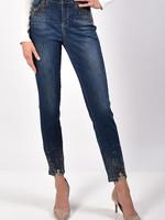 High Waisted Slim Jean w/ Rhinestones