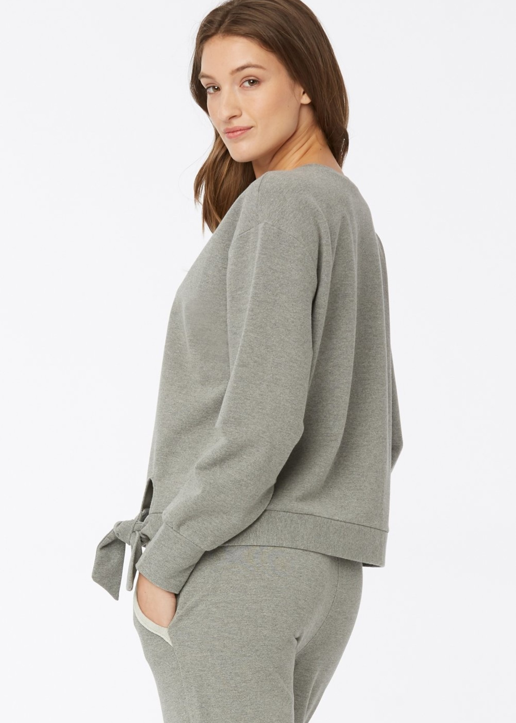 NYDJ Tie Front Sweatshirt