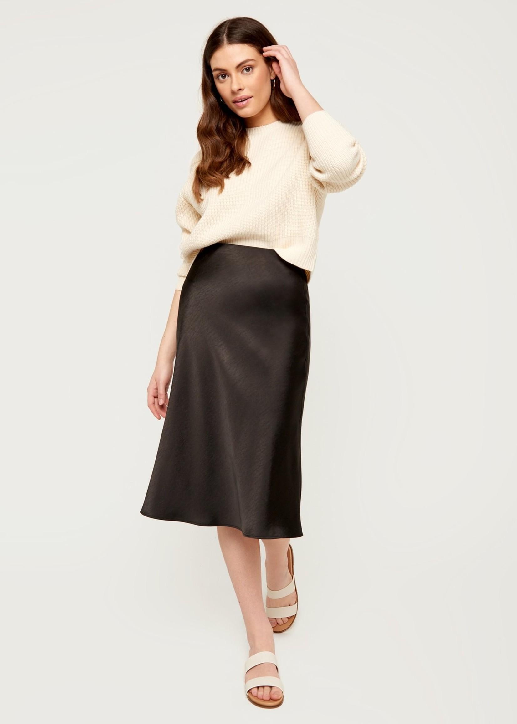 Leah Slip Skirt - Black