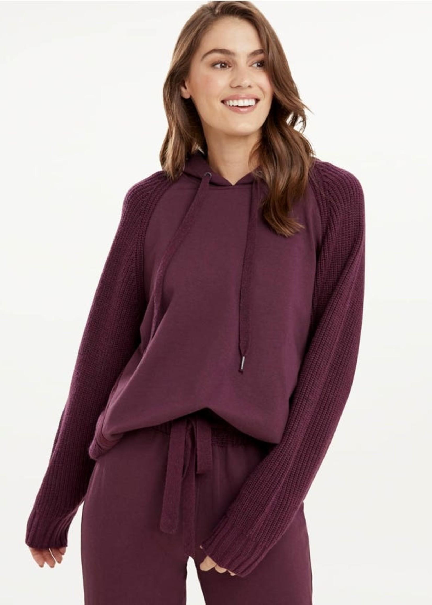 Splendid Shea Mix Sweater Hoodie