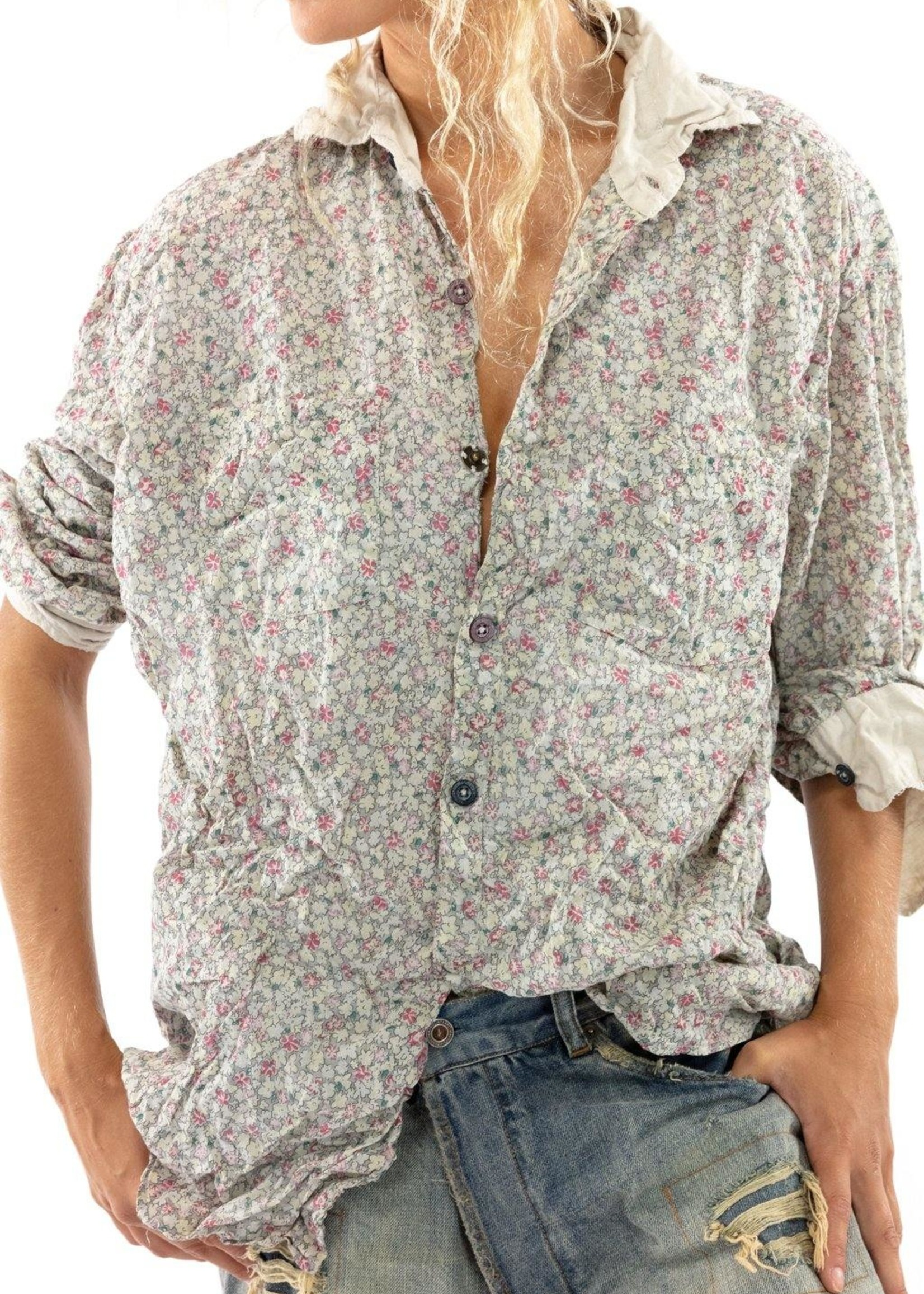 Magnolia Pearl Boyfriend Shirt - Georgia