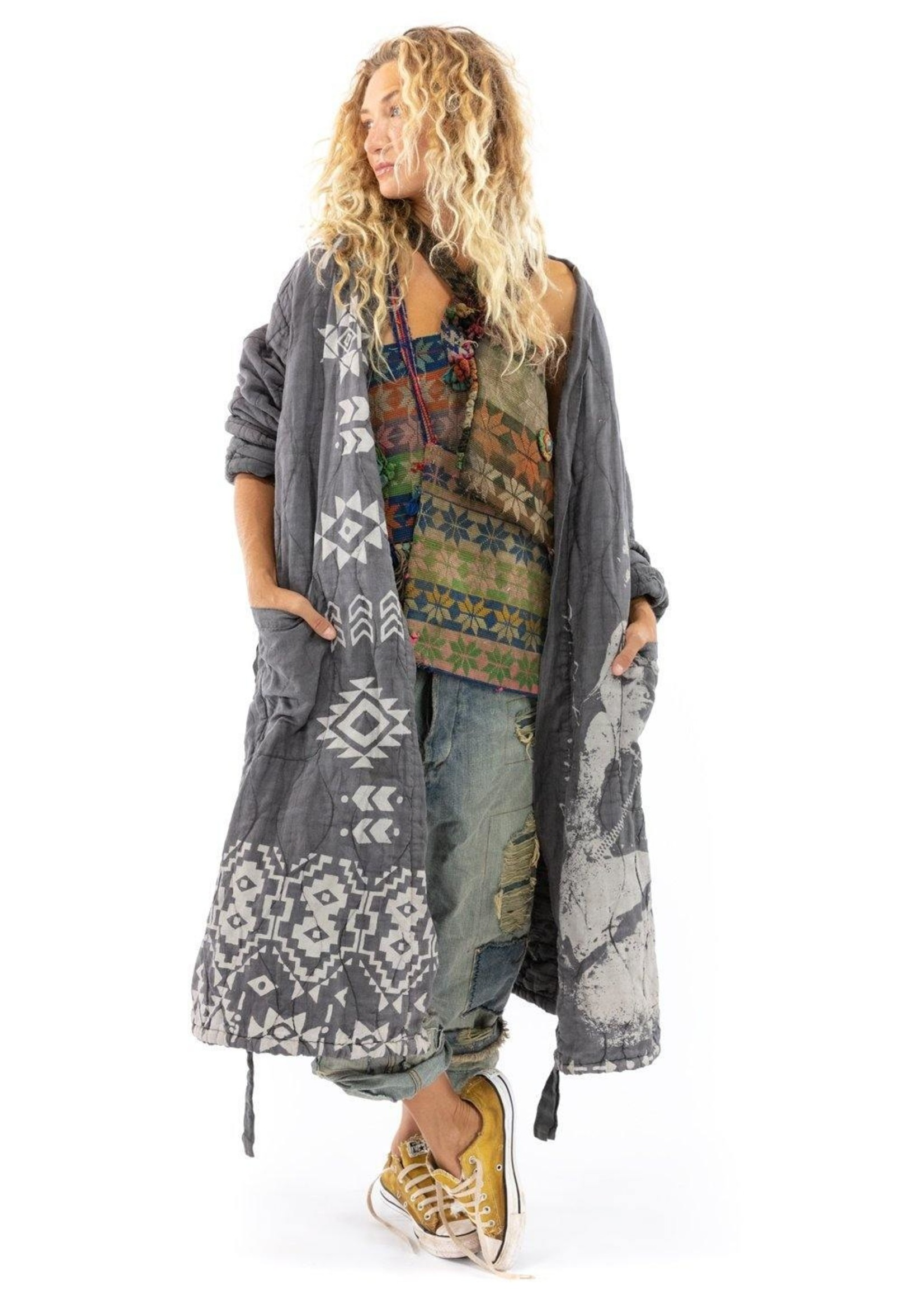 Magnolia Pearl Native Art Quilted Oro Coat - Ozzy