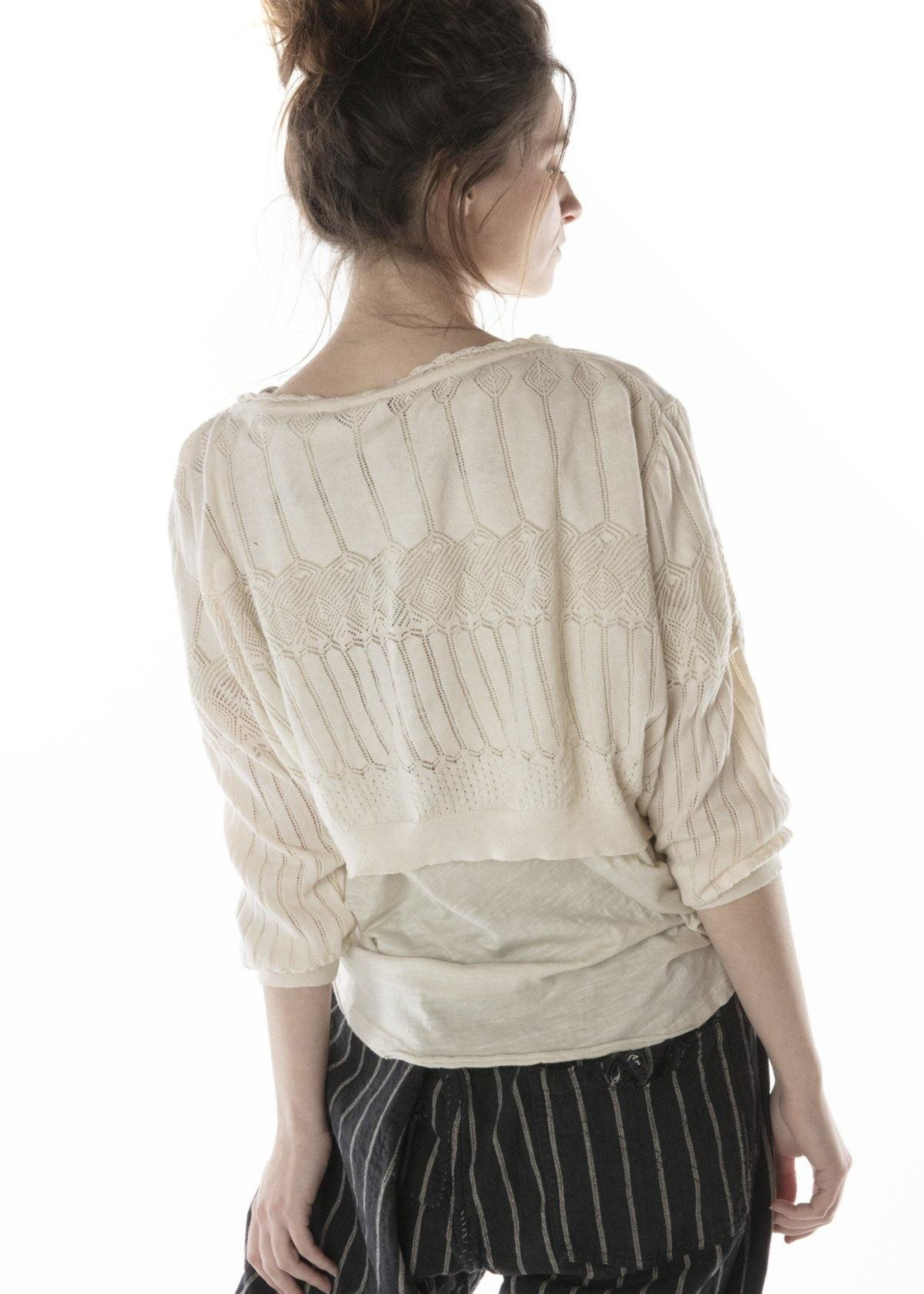 Magnolia Pearl Hadley Cropped Sweater - Antique White