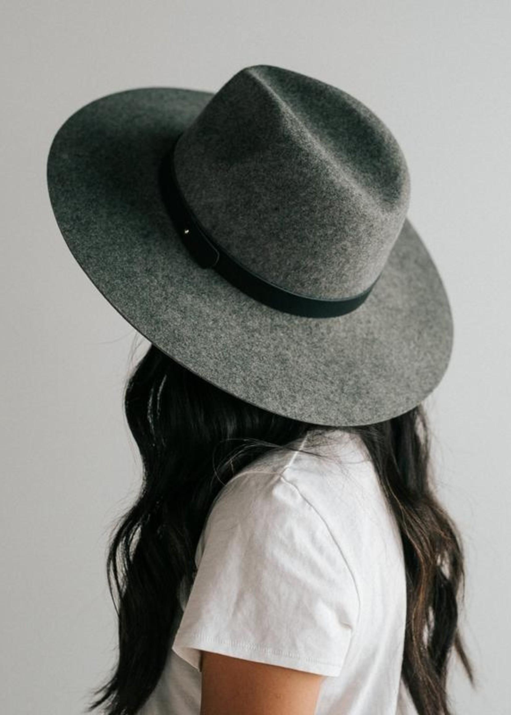 Gigi Pip Scottie Wide Brim Fedora - Grey