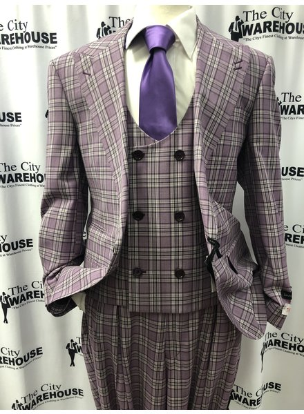 Tiglio Plaid Vested Suit