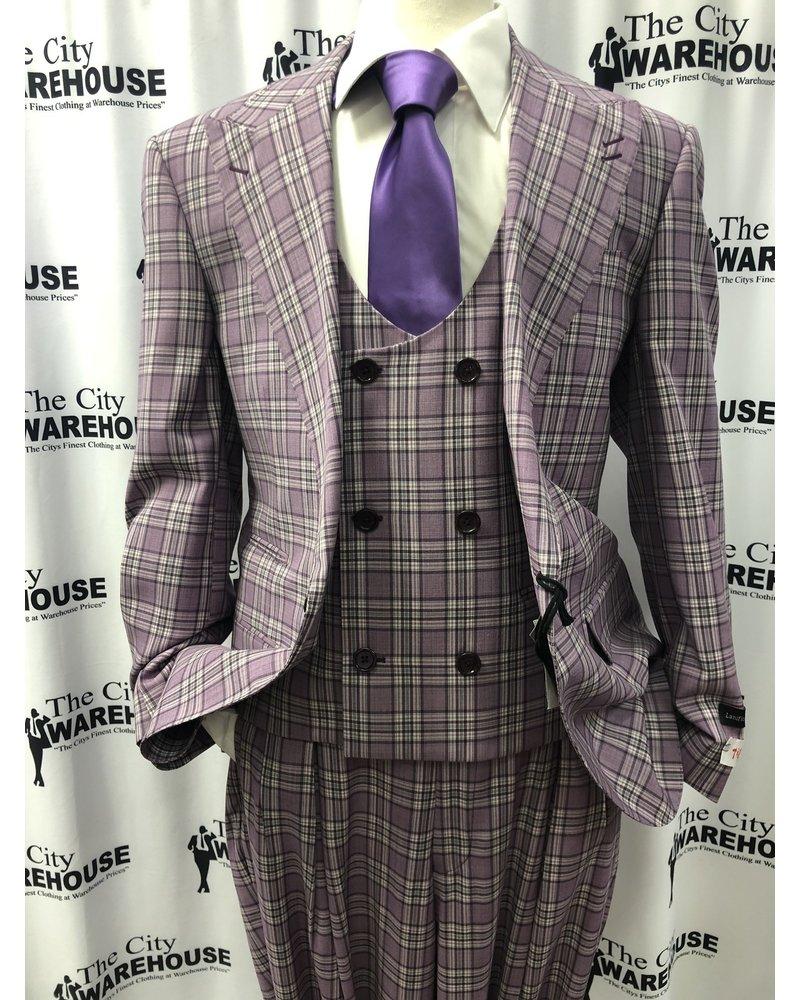 Tiglio Plaid Vested Suit