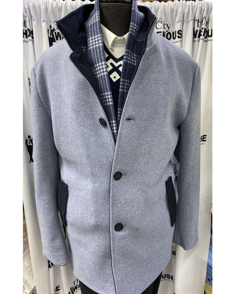 3/4 Coat W/Zip Out Scarf