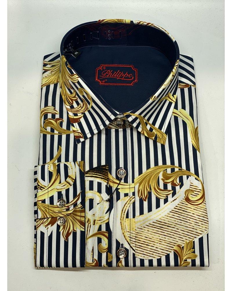 Philippe Floral Stripe Shirt