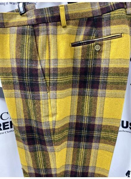 Lanzino Wool Plaid Slacks