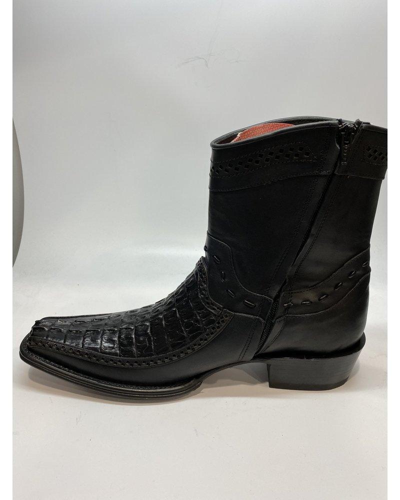 Los Altos Square Toe Caiman Tail Boot