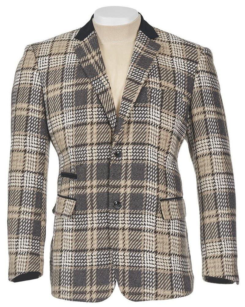 2B Plaid Blazer